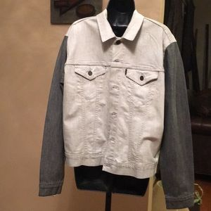 PRE-OWNED LEVI'S GRAY/2-TONE DEMIN JACKET